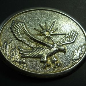 Other - Soaring Bald Eagle Bird Sun Stars old Belt Buckle